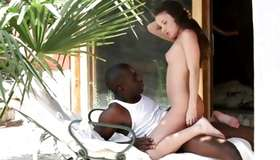 Lecherous interracial fucking of amazing chick