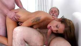 Gorgeous inexperienced having rough MMF sex with gaffers