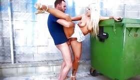 Lengthy haired blonde brute is tearing his penis alone with her cookie