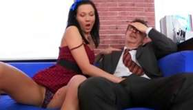 Glare on a first-class fucking between a mature prof and a sluttish babe